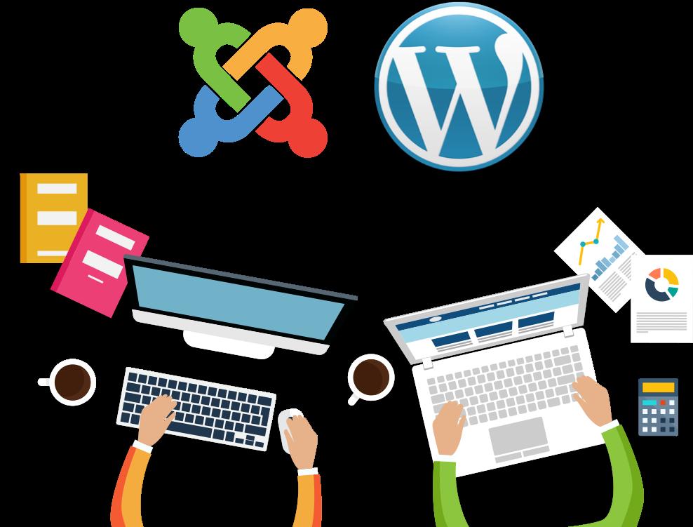 Joomla ir WordPress tinklapiai